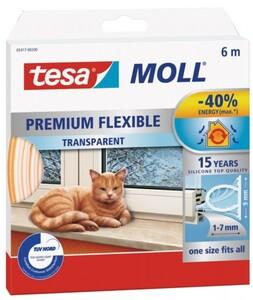 tesa Moll Dichtungsprofil Super Flex ,  6 m, transparent