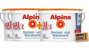 Alpina Decken- und Wandweiß- 3 für 2 Aktion ,  3 x 10 Liter