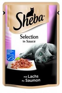 Sheba Katzennassfutter Lachs in Soße, 85 g Sheba Cuisine ,  85 g