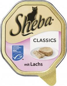 Sheba Katzennassfutter - Classics in Pastete mit Lachs ,  85 g