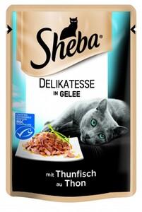 Sheba Katzennassfutter Thunfisch in Gelee, 85 g, Delicato, Sheba Delicato ,  85 g