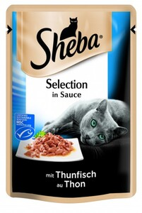 Sheba Katzennassfutter Thunfisch in Soße, 85 g, Sheba Cuisine ,  85 g