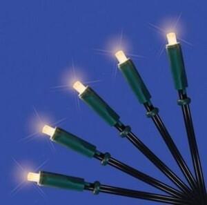 TrendLine LED-Lichterkette 50 LED ,  weiß,  für den Innenbereich, 5 m, Kabel grün