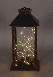 TrendLine LED Laterne mit Lichterkette ,  schwarz