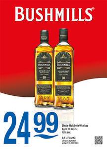 Bushmills Single Malt Irish Whiskey Aged 10 Years 40% Vol.