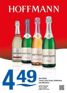 Hoffmann Sekt Edition Trocken, Rosé Trocken, Halbtrocken oder Alkoholfei