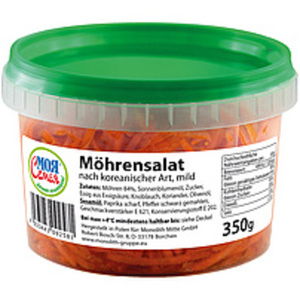 Möhrensalat nach koreanischer Art, mild