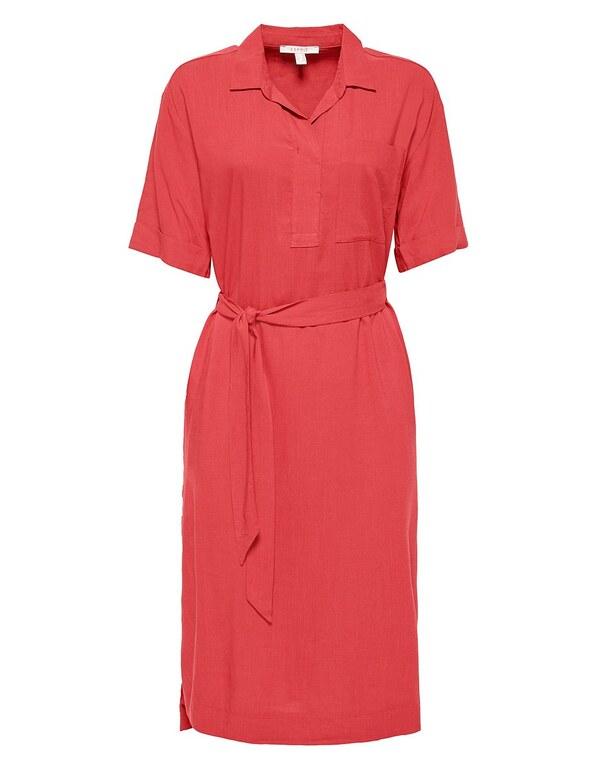 Esprit - Kleid mit Bindegürtel