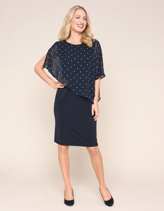 Bexleys woman - feminines Jerseykleid mit Chiffon-Cape