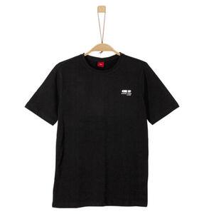 s.Oliver T-Shirt, uni, für Jungen, schwarz, L