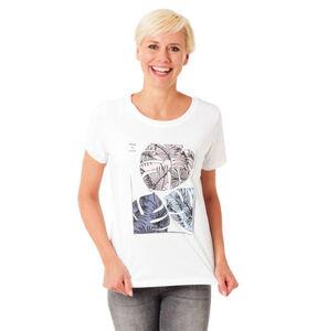 s.Oliver T-Shirt, Front-Print, reine Baumwolle, weiß 1, 36
