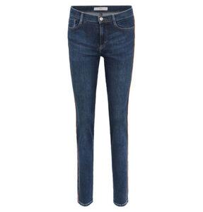 """Brax Jeans """"Shakira"""", Skinny Fit, Vintage Denim, Seitenstreifen, unifarben, blau, 36"""