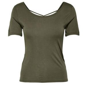 Only Damen T-Shirt, khaki, L, L