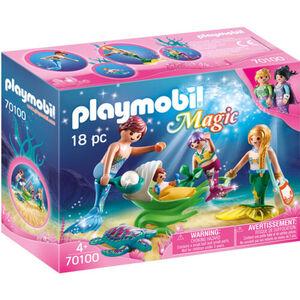 PLAYMOBIL® Familie mit Muschelkinderwagen 70100