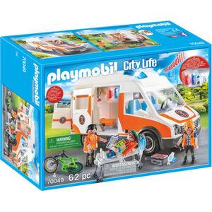 PLAYMOBIL® City Life - Rettungswagen mit Licht und Sound 70049