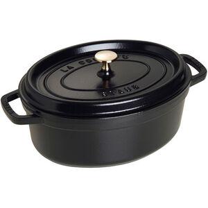 Staub Cocotte, oval, schwarz, 29 cm, cm
