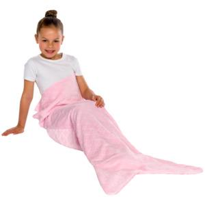Meerjungfrau- oder Krokodildecke aus Fleece