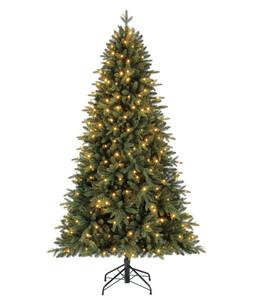 Dehner Künstlicher Weihnachtsbaum Tanne 'Espen' mit LED-Beleuchtung, 210 cm