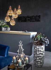 Pureday Advent-Kerzenhalter 'Weihnachtsbaum', Silberfarben, silberfarben