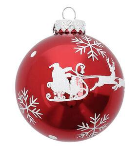 Galeria Selection Weihnachtskugel, Weihnachtsmann, 8 cm, rot