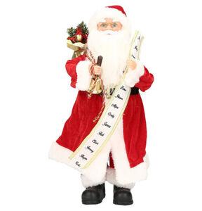 """Galeria Selection Weihnachtsfigur """"Santa"""", stehend, 38cm, rot-weiß"""