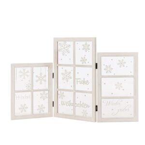 Pureday Deko-Objekt 'Fenster-Paravent X-Mas', Weiß, weiß