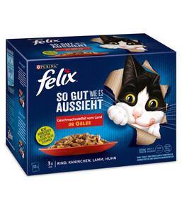 PURINA felix® Nassfutter So gut wie es aussieht, 12 x 85 g