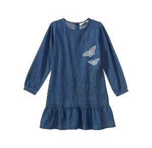 Mädchen-Jeanskleid mit Spitzen-Applikationen