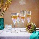 Bild 2 von SMERALDA 6x Weinglas mit Goldrand 400ml