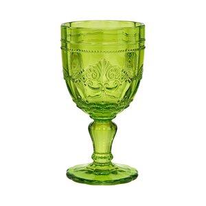 6x Trinkglas mit Stiel 230ml grün