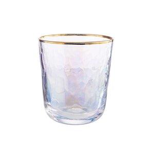 SMERALDA 6x Trinkglas mit Goldrand 280ml