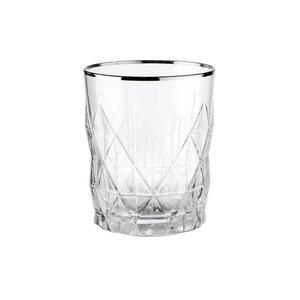 ATLANTIS 6x Wasserglas mit Silberrand