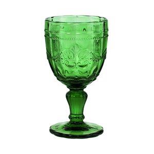 6x Trinkglas mit Stiel 230ml dunkelgrün