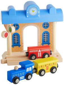 KIDLAND®  Holz-Bahnhof mit Zug