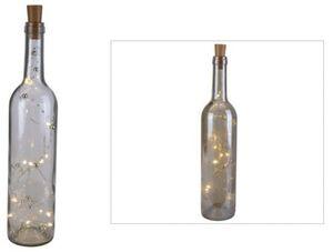 LED-Flasche - aus Glas - 7 x 34,5 cm - 1 Stück