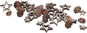 Streudeko - Sterne - aus Holz - 36 Teile