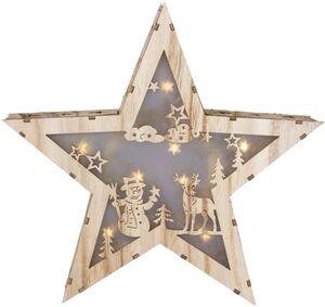 LED-Stern - aus Holz - Ø = 26 cm