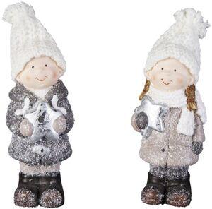 Winterkind - aus Terrakotta - 6,5 x 5 x 14 cm - 1 Stück