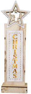 LED-Standdeko - Christmas - aus Holz - 14 x 7 x 49 cm