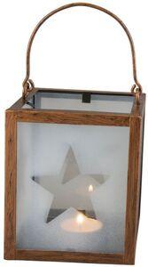Windlicht - Stern - aus Metall - 11,5 x 11,5 x 22 cm - kupfer