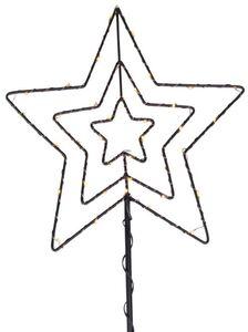 LED-Pflanzenstecker - Stern - aus Metall - 87 x 35 cm