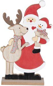Standdeko - Weihnachten - aus Holz - 12 x 4 x 23,5 cm