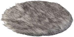 Platzdecke - aus Textil - Ø = 40 cm - grau