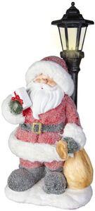 Nikolaus mit LED-Laterne - aus Magnesia - 25 x 23 x 57 cm