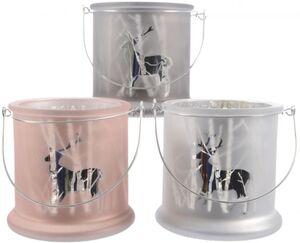 Teelichtglas - Rentier - 13 x 13 cm - 1 Stück