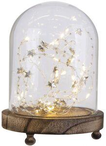LED-Dekoglocke - aus Glas - 13,5 x 18 cm