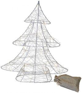 LED-Tannenbaum - aus Metall - 34 x 7,5 x 40 cm