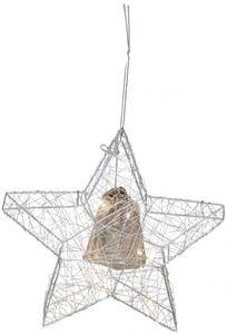 LED-Stern - aus Metall - 30 x 5 x 30,5 cm