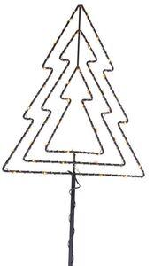 LED-Pflanzenstecker - Baum - aus Metall - 95 x 28 cm
