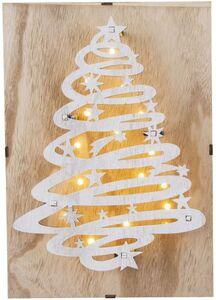 LED-Wanddeko - Baum - aus Holz - 21 x 6 x 30 cm